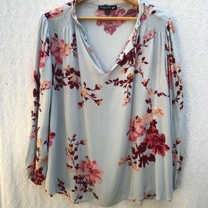 Living Doll Los Angeles Floral Top